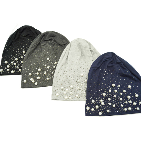 Ladies Pearl Sparkle Beanie