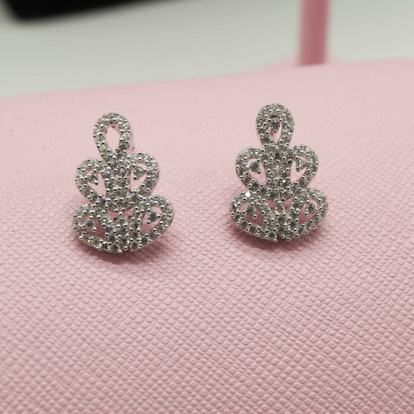 Sterling Silver Floral Lace Earrings