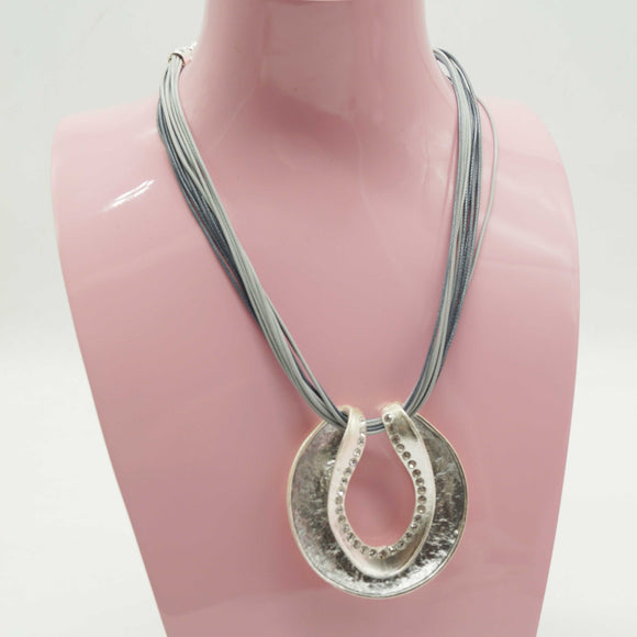 Silver Metallic Shell Necklace