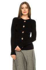 Wooden Button Sweater