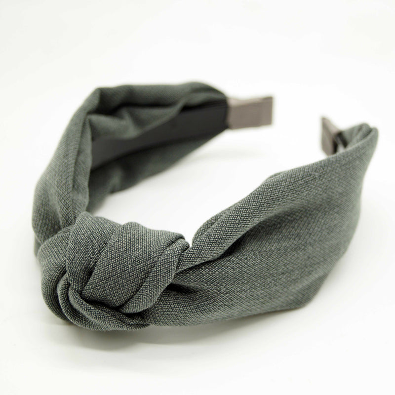 Linen Look Topknot Hairband