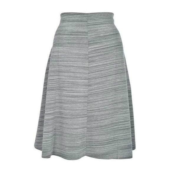 Womens grey scuba skirt everyday wear casual basic knee length