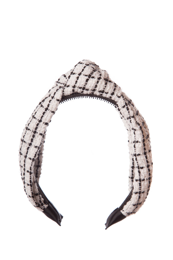 Black & White Check Knot Hairband