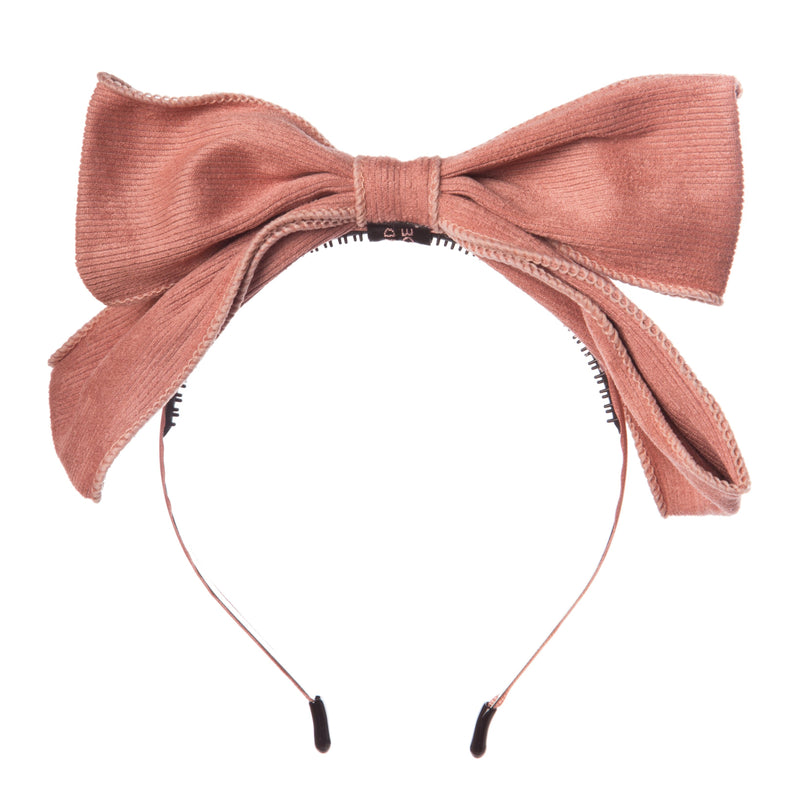 Girls Ribbed Cotton Bow Hairband