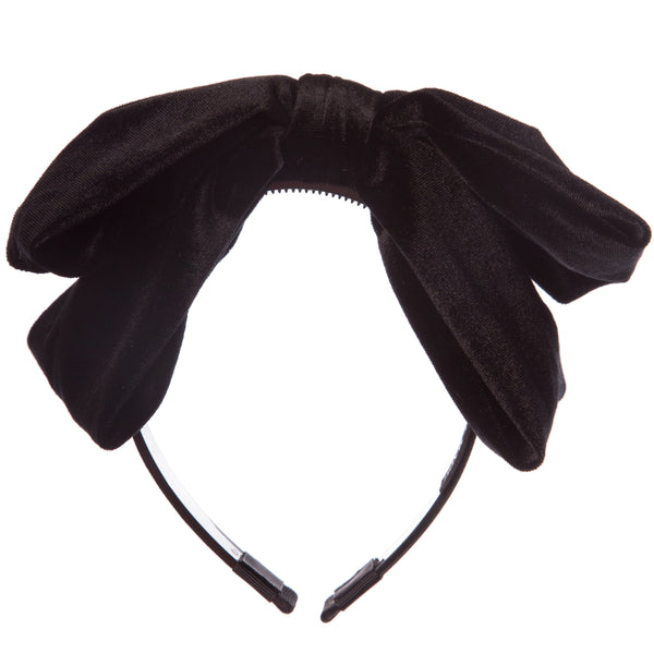 Large Velvet Bow Hairband