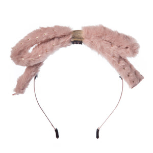 Girls Fluffy Bow Hairband