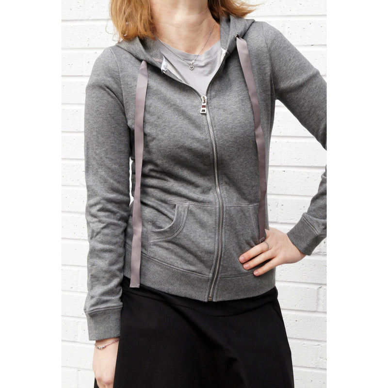 Womens Cotton Zip-Up Hoodie