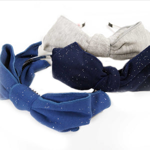 Glitter Ribbed Bow Headband