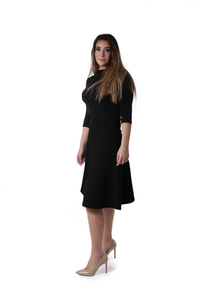 Ladies Fit & Flare Basic Skirt