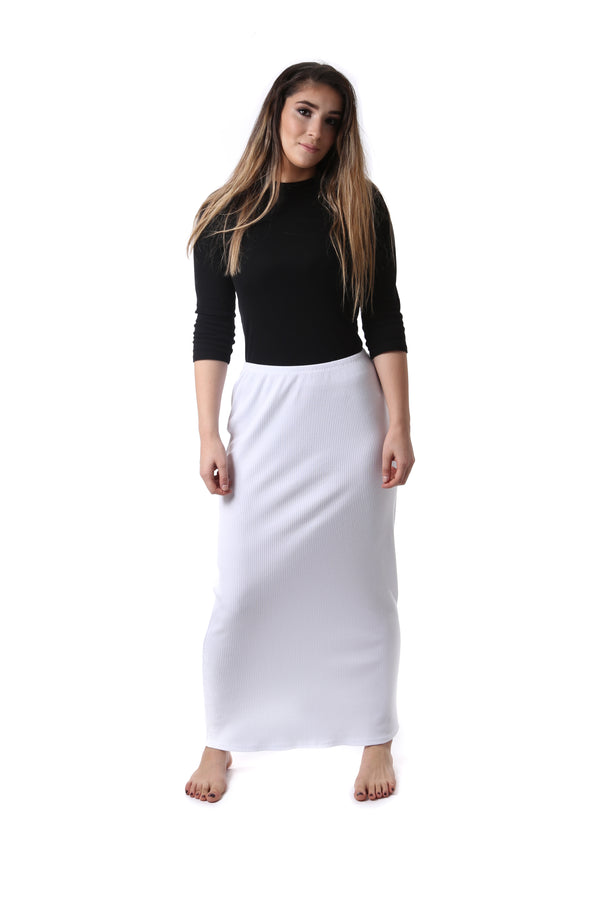 Ladies Ribbed Maxi Skirt