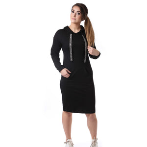 Sparkle Bead Hoodie Dress