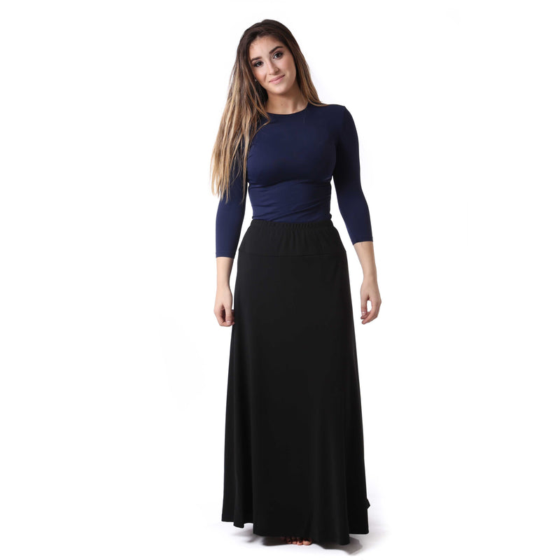 Women's Long Slinky Yoke Skirt