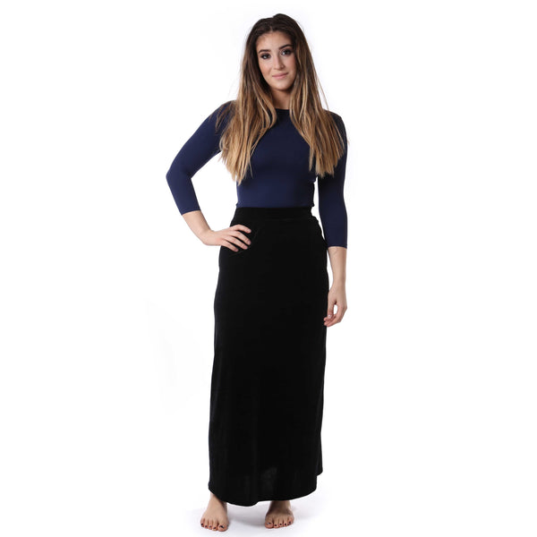 Ladies Velour A-line Maxi Skirt
