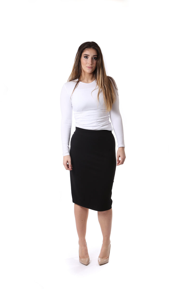 Ladies Cotton Pencil Skirt