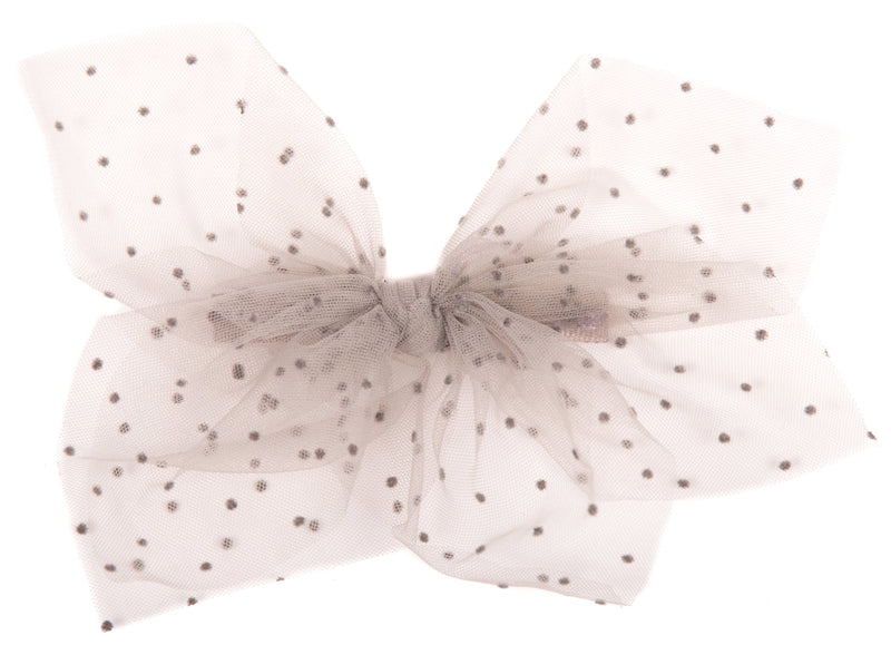 Dotted Net Bow Hairclip