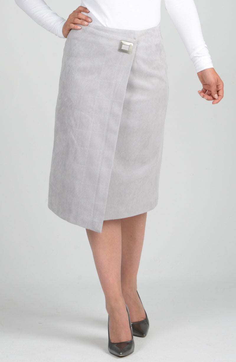 Womens Suede Buckle Skirt