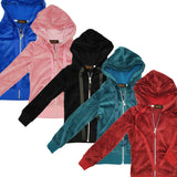 Kids Velour Zip-Up Hoodie