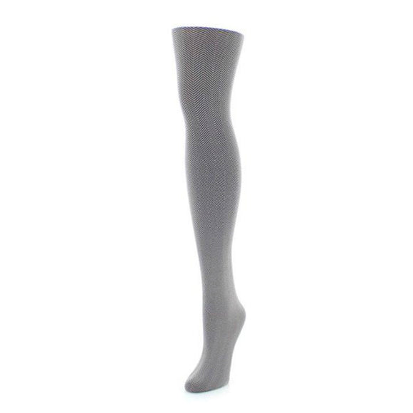 Herringbone Patterned Tights
