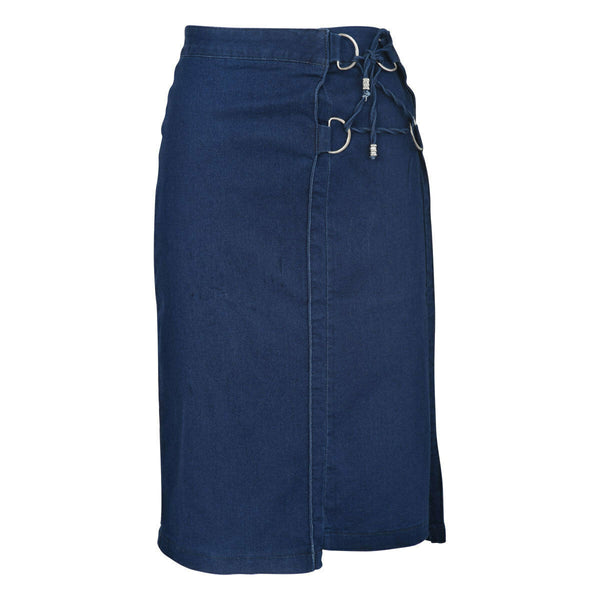 Ladies Tied Denim Pencil Skirt