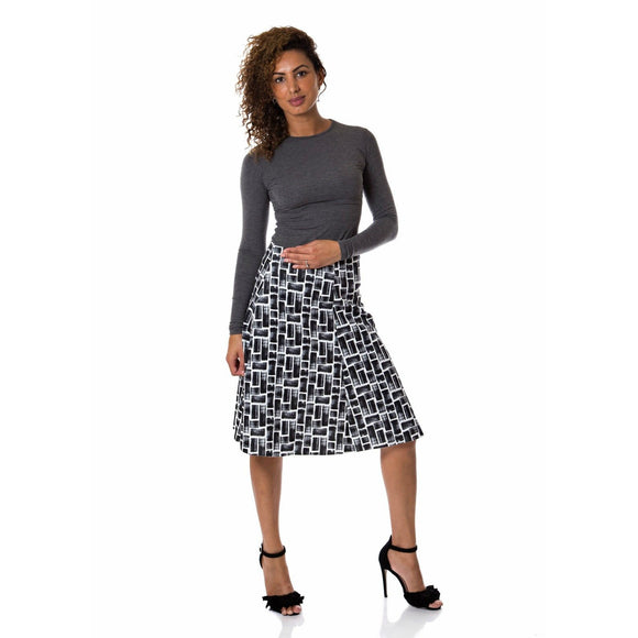 Scuba Patterned Skirt