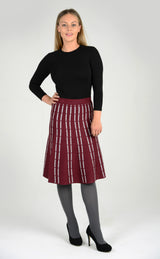 Adults Knit Striped Skirt