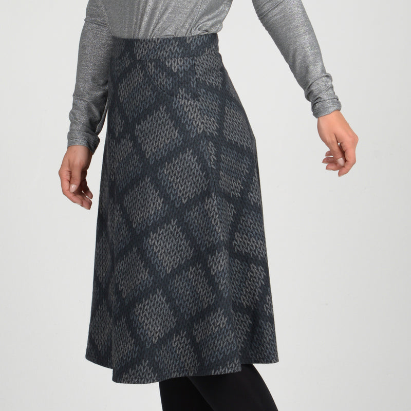 Ladies knee length modest winter skirt with pockets kosher casual and formal wear