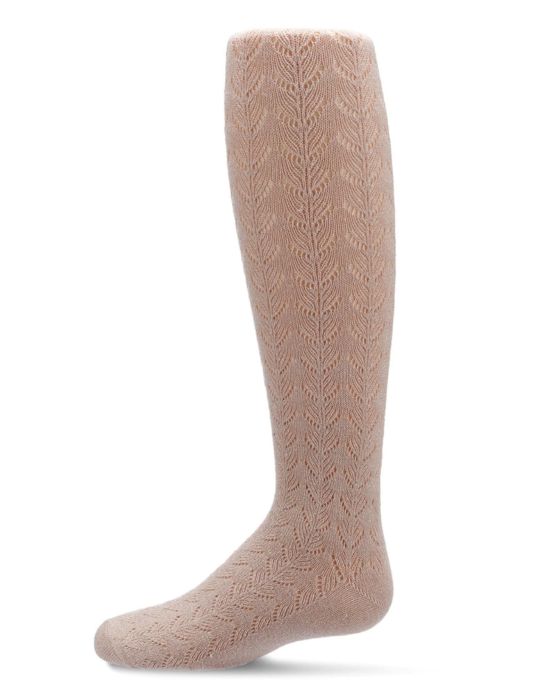Girls Shimmer Pointelle Tights