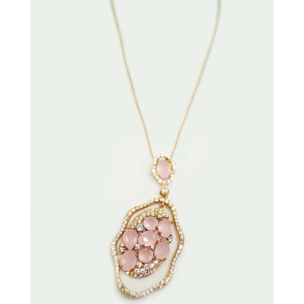 Rose/Pink Flower Wave Necklace