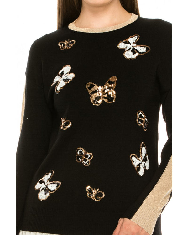 Metallic Butterfly Top
