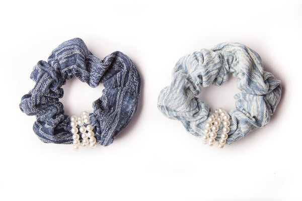 Scrunchies with Pearl Details