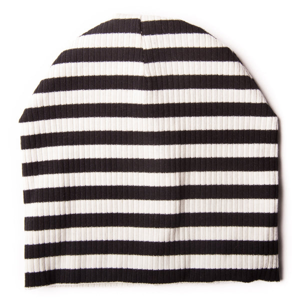 Black and White Stripe Baby Hat