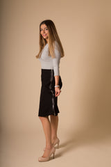 Women's A-Line Skirt with Side Zip