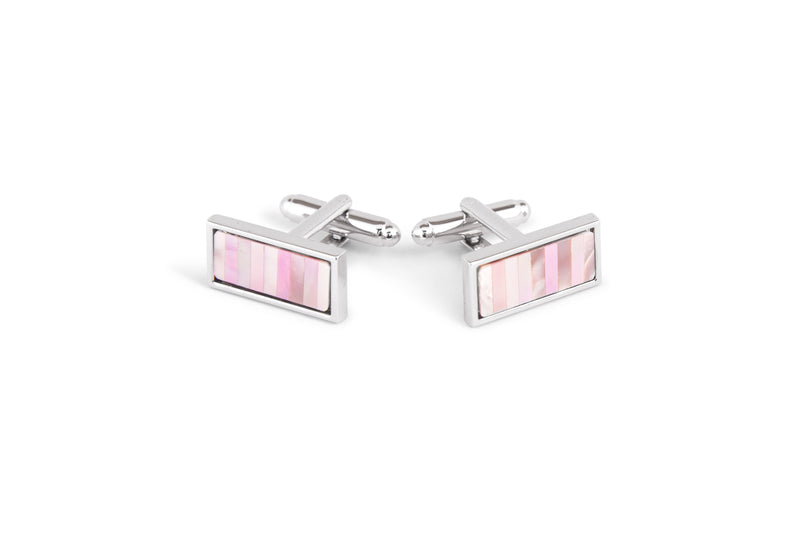 Silver with Pink Cufflinks