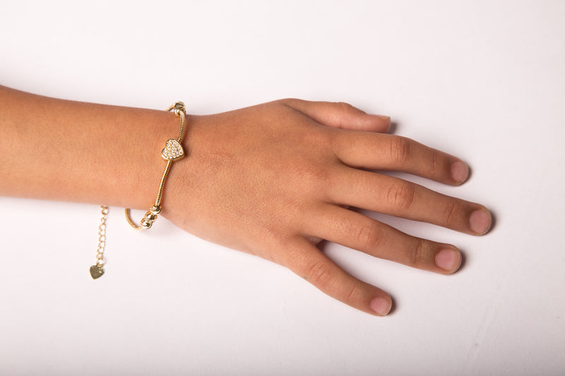 Small Heart Gold Bracelet