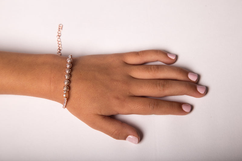 Rose Gold Circle Design Bracelet