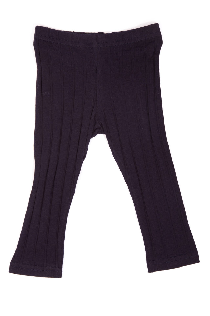 Wide Ribbed Full Length Leggings - Basic Colours