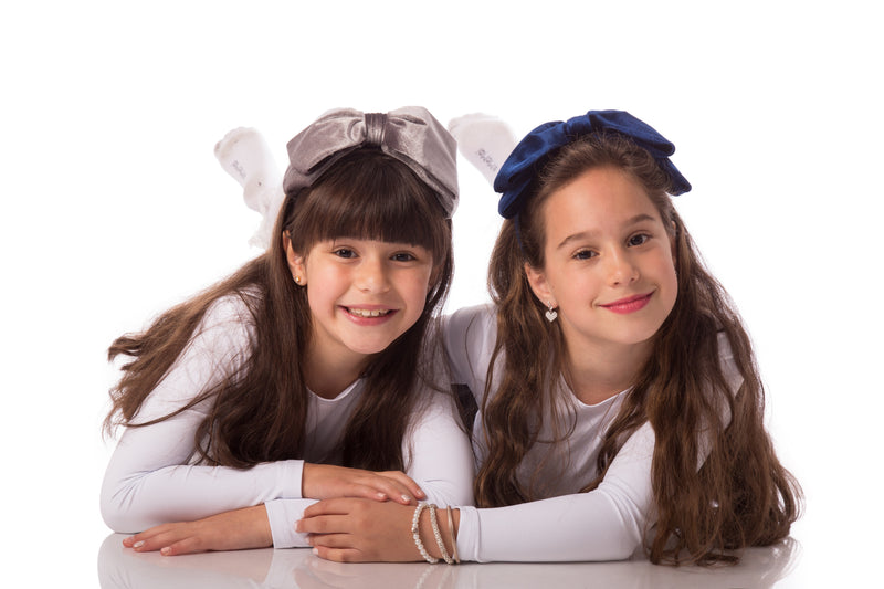 Girls Large Velvet Bow Hairband