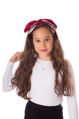 Two-Tone Velvet Bow Hairband