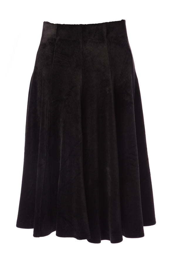 Girl's Velour Panel Skirt