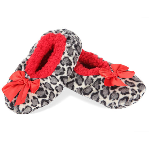 Spotted Leopard Girls Slippers