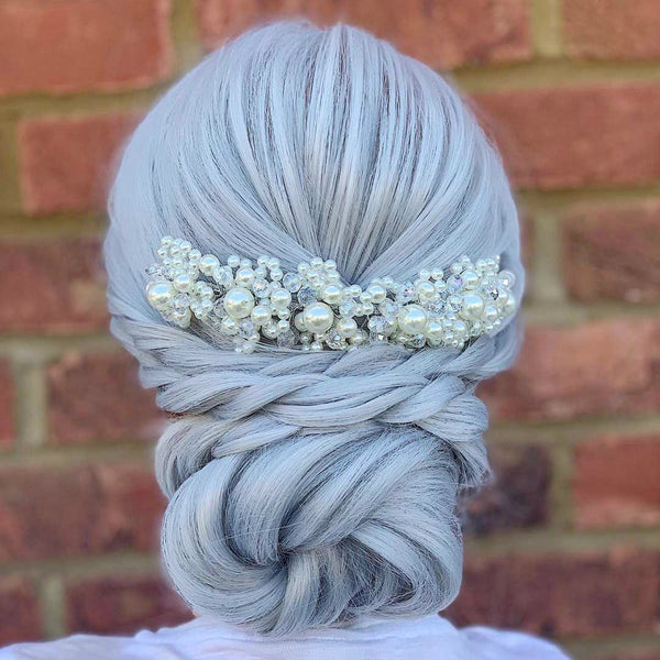 Pearl & Bead Cluster Headpiece