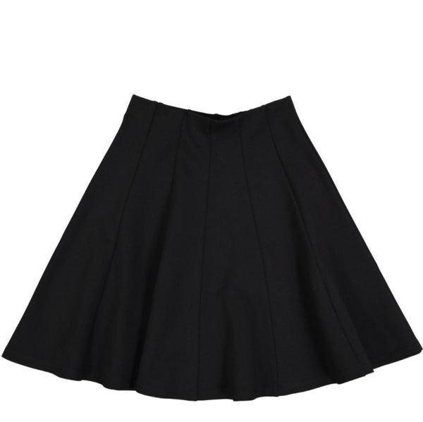 Girls Black Panel Swish Skirt