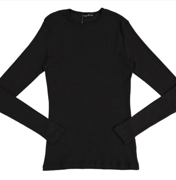 Women's Ribbed Long Sleeve T-shirt