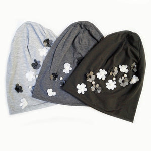 Flower Applique Beanie