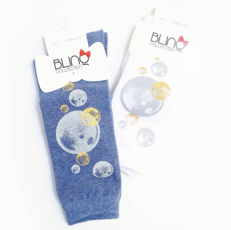 Glitter Bubbles Knee High Socks