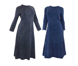 Ladies Stonewash Cotton A-line Dress