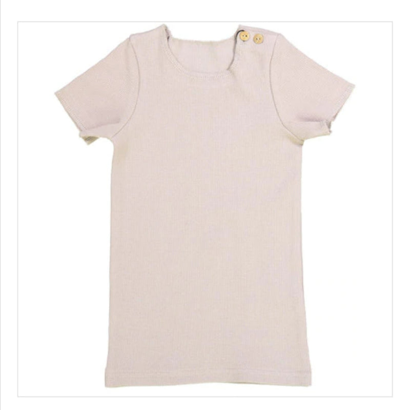 Ribbed Short Sleeved Tops - Basic Colours