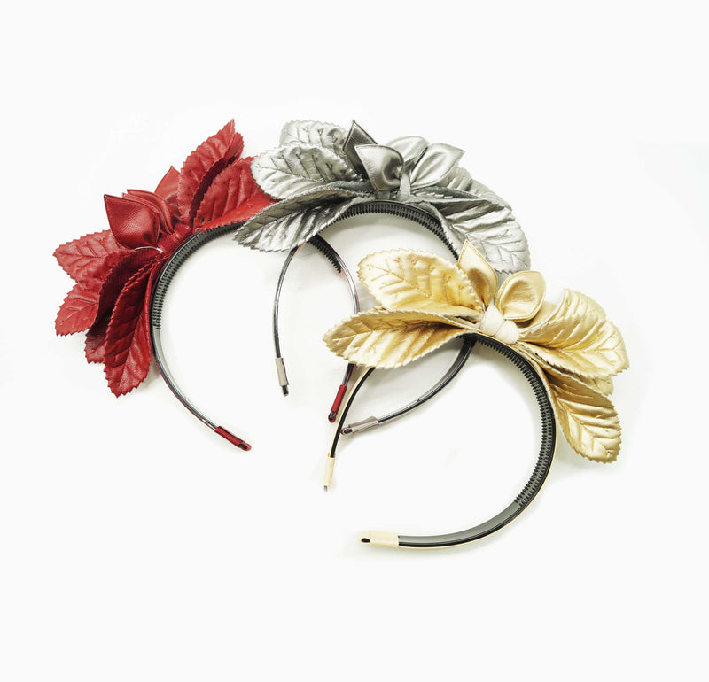 Leather Flower Hairband
