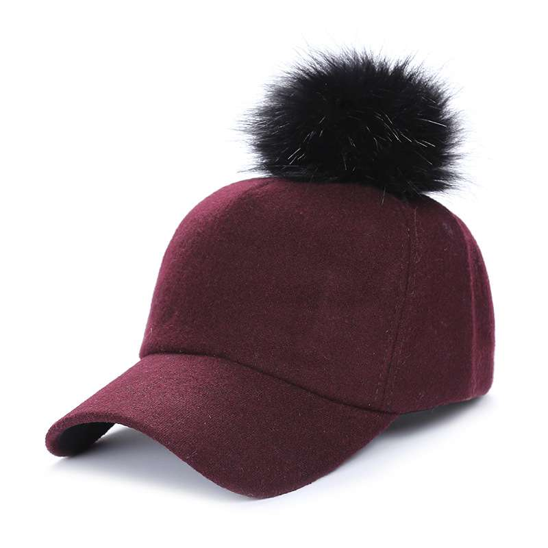 adult womens teens winter cap with pom pom