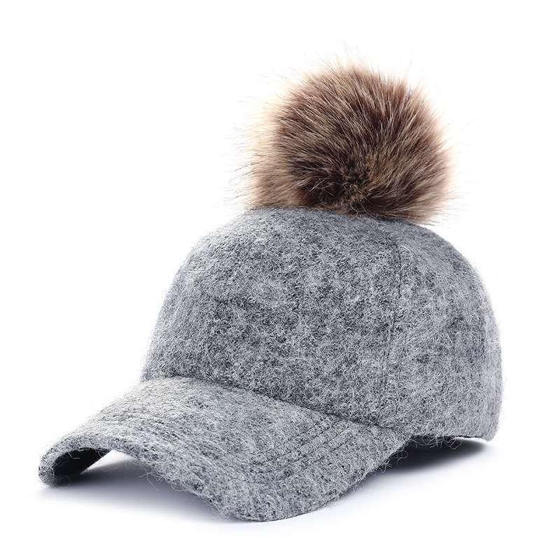 Women's Cap with Pom Pom